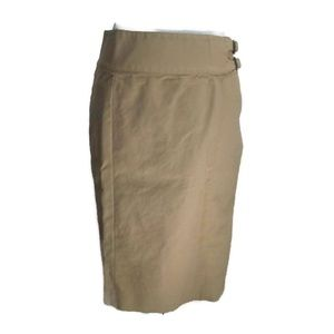 Lauren Ralph Lauren Tan Pencil Skirt Knee Length 6